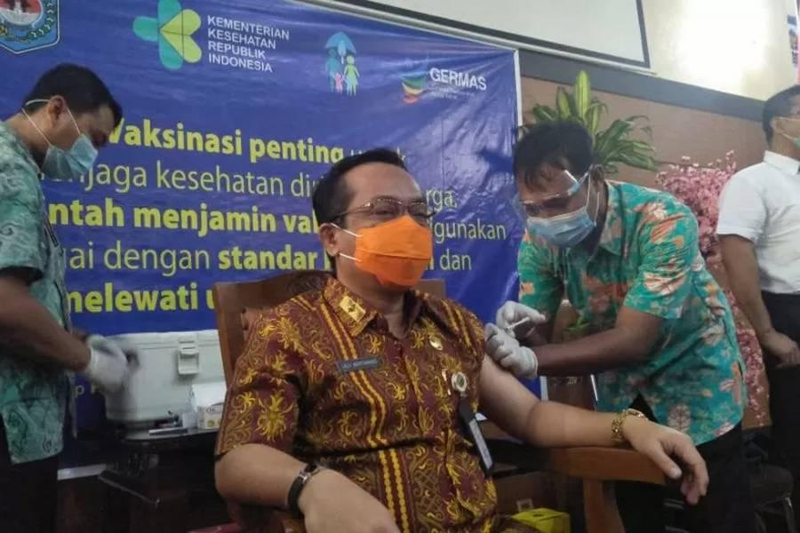 Sejumlah Pejabat Pemkot Mataram Mulai Disuntik Vaksin COVID-19