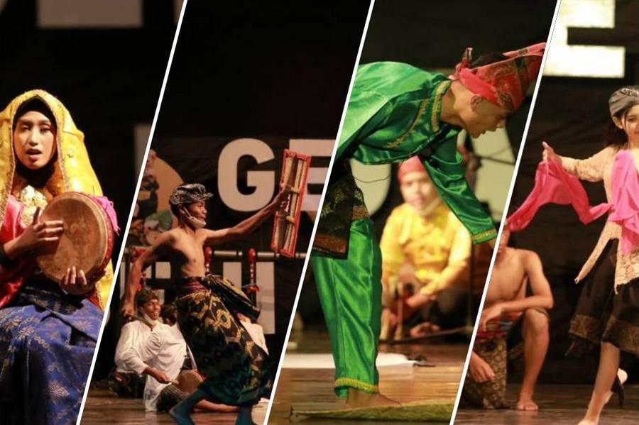 Lima Sekolah Tampil Pada Hari Kedua Gebyar Seni Pelajar 2021 Taman Budaya NTB